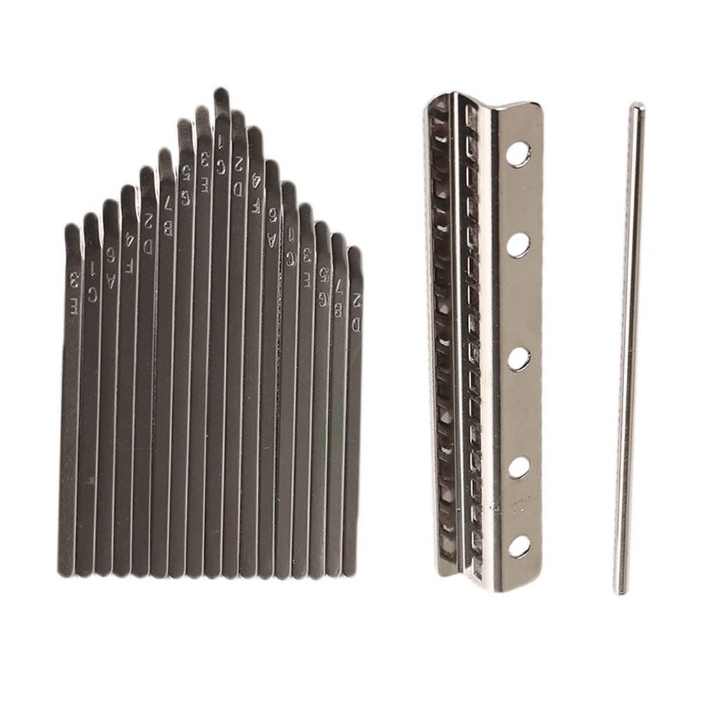 Thumb Piano Bridge Saddle 17 Keys Set Kit For Kalimba DIY Replacement Parts