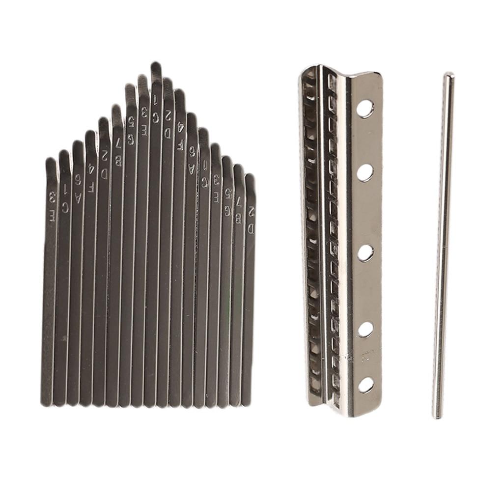 Thumb Piano Bridge Saddle 17 Keys Set Kit For Kalimba DIY Replacement Parts