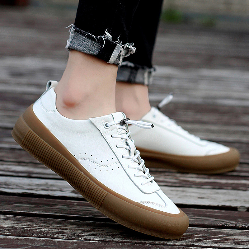 Sneakers Men Shoes Genuine Leather Top Quality Original Brand Autumn Casual Men Shoe Simple White Sneakers