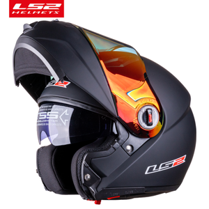 Image 2 - מקורי LS2 קסדת מגן עבור LS2 FF370 moto rcycle קסדה 4 צבעים עדשה עבור LS2 FF394 FF386 FF325 Flip עד moto קסדת Glsses