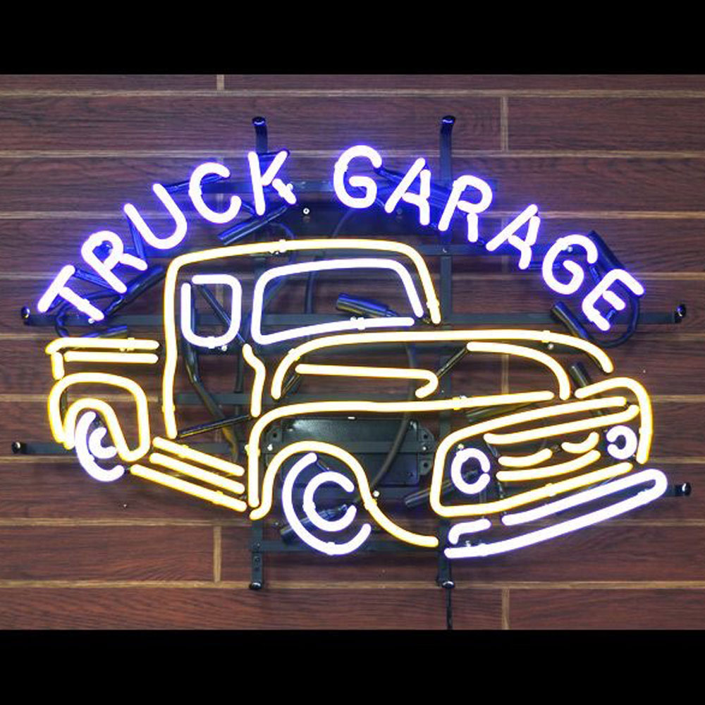 Customized Vintage Truck Garage Open Neon Signs Car Logo Neon Tube Lights For Sale