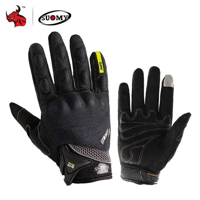 $ US $7.90 SUOMY Motorcycle Gloves Men Racing Gant Moto Motorbike Motocross Riding Gloves Motorcycle Breathable Summer Full Finger Guantes