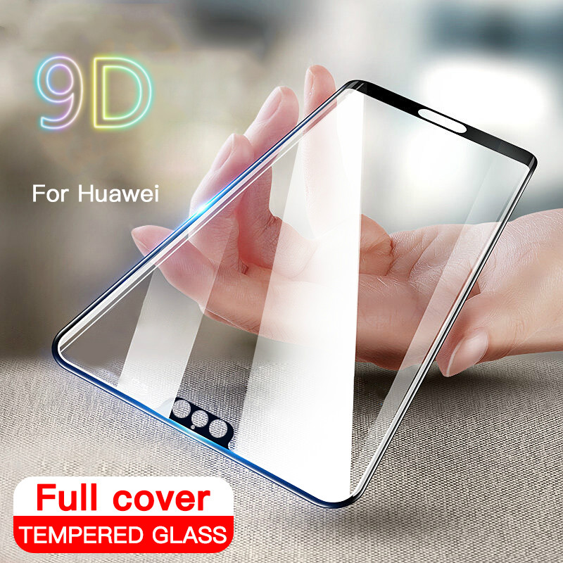 9D Tempered Glass For Huawei P20 Pro P10 Lite Plus Screen Protector For Huawei P20 Honor 10 20 Lite Protective Hard Cover Glass