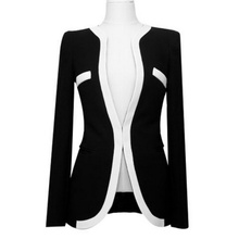 Women's Short Jacket Slim Suit Professional Women's Handsome Slim Stitching Dark Button Temperament Fashion Jacket – Ya142-141