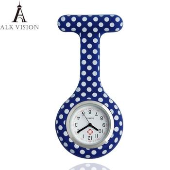 ALK vision medical nurses fob watches with clip profession nurse doctor pocket watches silicone fob brooch quartz movement clock
