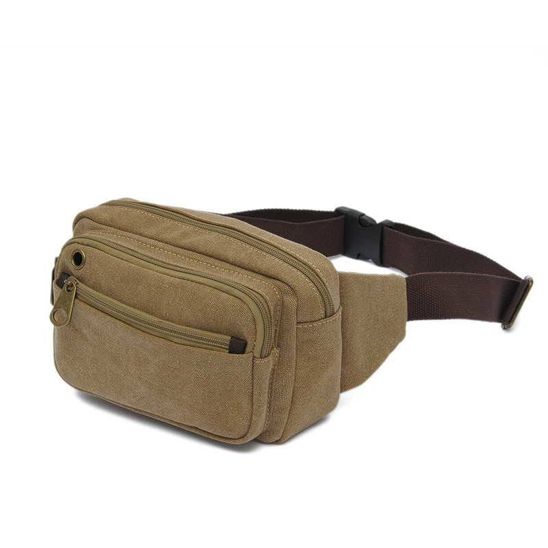 2019 New Style Men Chest Pack Multi-functional Canvas Bag Outdoor Small Destroyed Oblique Mobile Phone Waist Bag Korean-style Ko