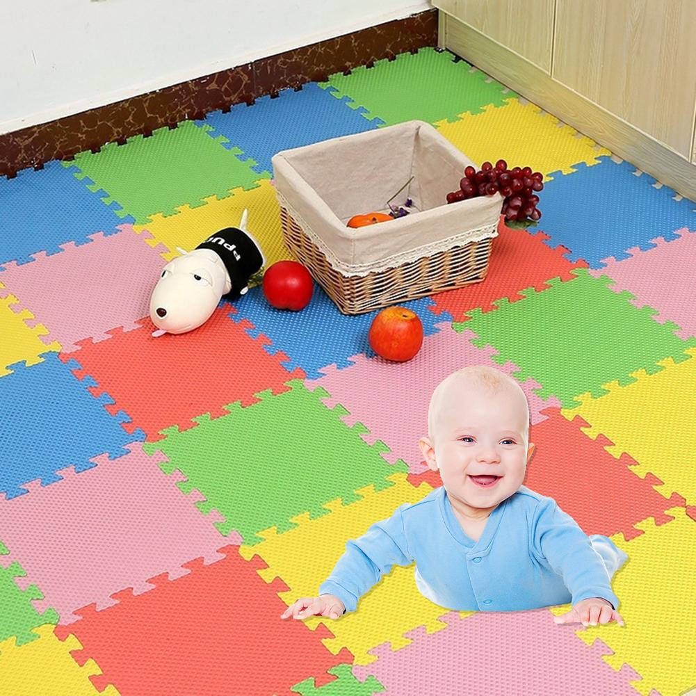 30x30cm EVA Foam Floor Mat Game Rug For Kids Room Decoration Anti-slip Puzzle Play Mat Door Mat Thick Baby Crawling Play Toy Bab