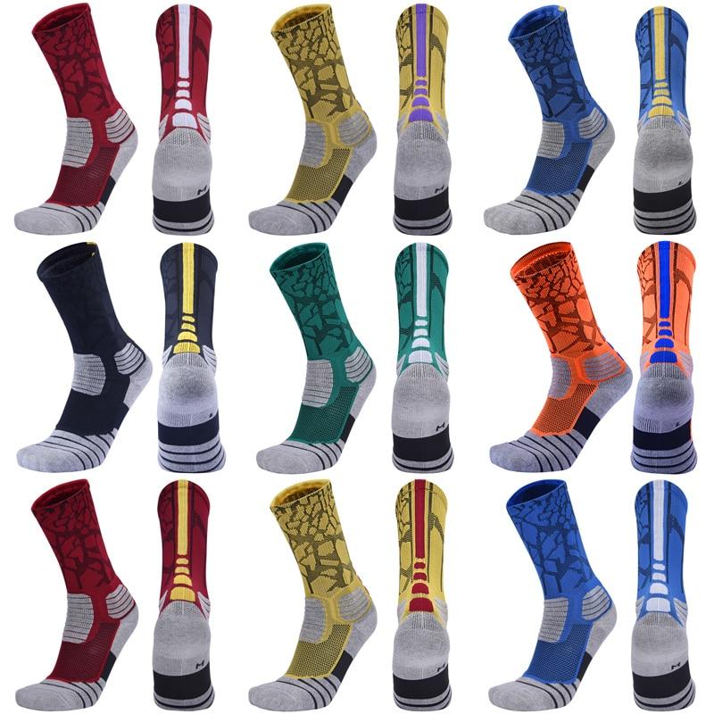 Носки мужские Спортивные Компрессионные, Элитные баскетбольные, хлопковые, для улицы, велоспорта
