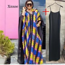 New Style African Dresses for Women Dashiki Rainbow Clothes Riche Robe Boubou Africain Africa Dress Outfit rainbow