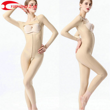 Bodysuit Liposuction Post-Surgery Compression Full-Body-Shaper Slimming Women YISHENG