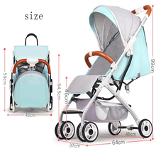 Poussette Lightweight Strollers For Newborns Boy Girl Can Sit Can Lie Folding Yoya Child Ba