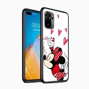 Image 3 - Mickey Minnie en Londres para Xiaomi Redmi Nota 10 10 10 10S 9 9T 9S 9Pro Max 8T 8Pro 8 7 6 5 Pro 5A 4X 4 suave negro teléfono caso