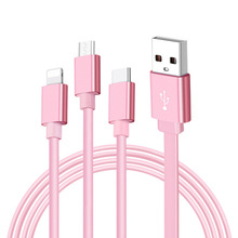 Multi Charging Cable Cord 3 In 1 Type C Micro USB Retractable For Mobile Phone AS99