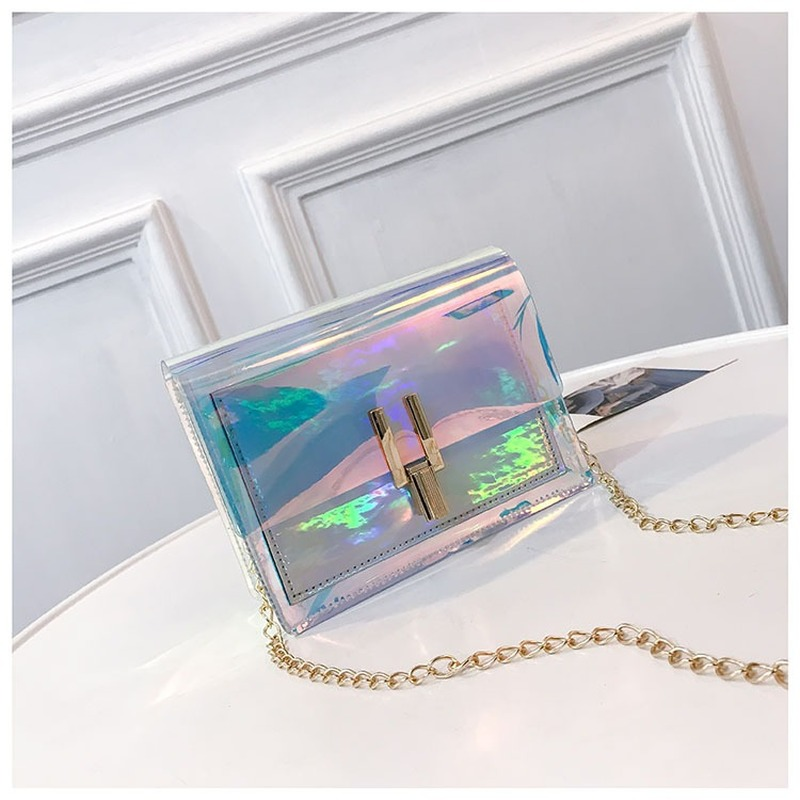 Small Crossbody Bags For Women Laser Transparent Bags Fashion Women Korean Style Shoulder Messenger Waterproof Mini Beach Bags