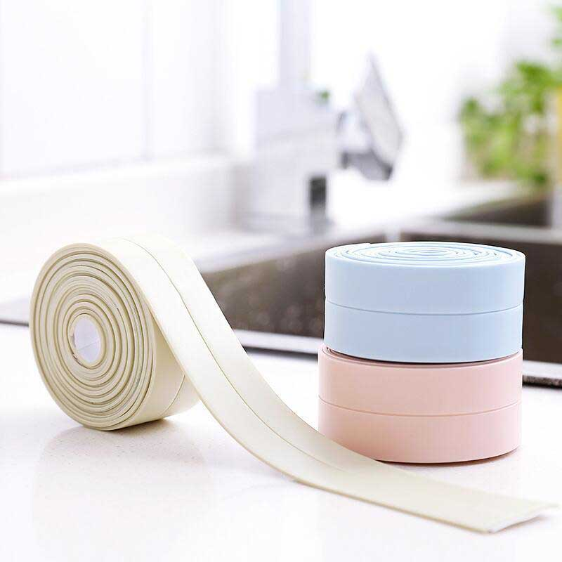 3.2Mx22MM Bathroom Shower Sink Bath Sealing Strip Tape White PVC Self Adhesive Waterproof Wall Sticker For Bathroom Kitchen