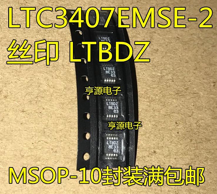 5 шт. LTC3407 LTC3407EMSE - 2 стабилизатор MSOP - 10 новая упаковочная печать чип LTBDZ