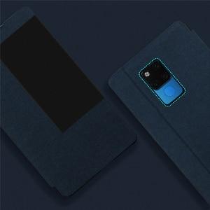 Image 5 - Smart Window View Stand Flip Case Cover Met Pen Houder Voor Huawei Mate 20 X/Mate 20X 5G mobiele Telefoons