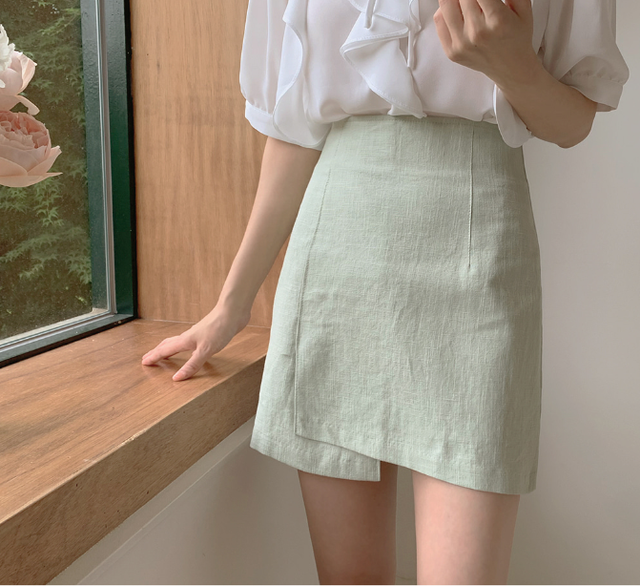 New Oversize Girls Summer blouse women chiffon suit short sleeves  Tops high waist pencil skirt  two piece suits Sell separately 5