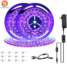 10M 33ft LED Light Strip UV Black Light Strip Kit 600Units UV Lamp Beads Ultraviolet Flexible Blacklight LED Ribbon Glow Party