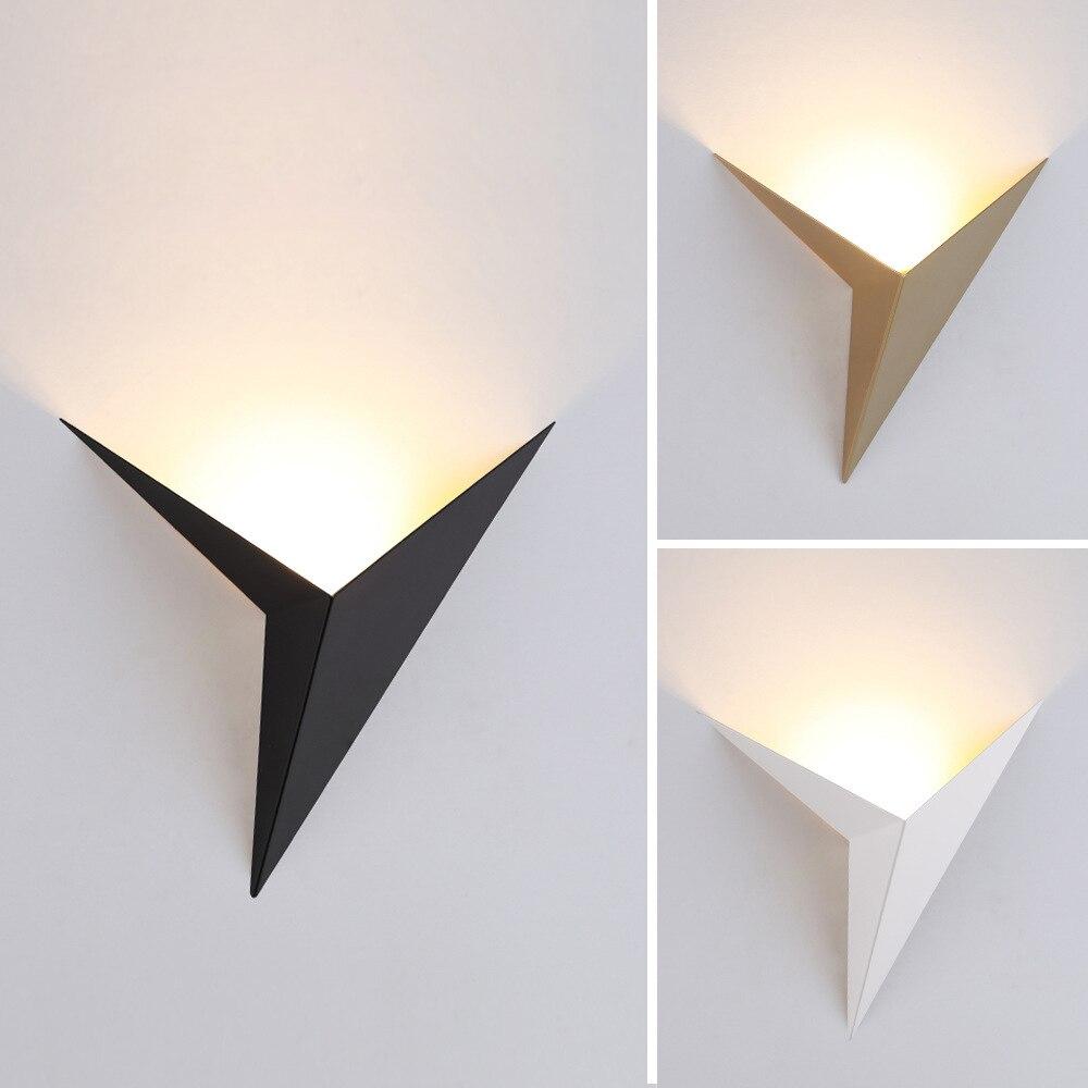 Applique murale LED en forme de triangle, style nordique moderne et minimaliste, éclairage Simple pour salon 3W AC85-265V