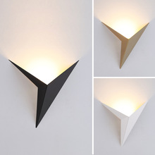 Lighting Led-Wall-Lamps Living-Room-Lights Triangle-Shape Nordic-Style Modern Minimalist