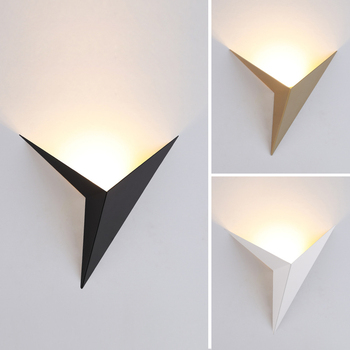 Modern minimalist triangle shape LED Wall Lamps  Nordic style Indoor Living Room Lights 3W AC85-265V Simple Lighting