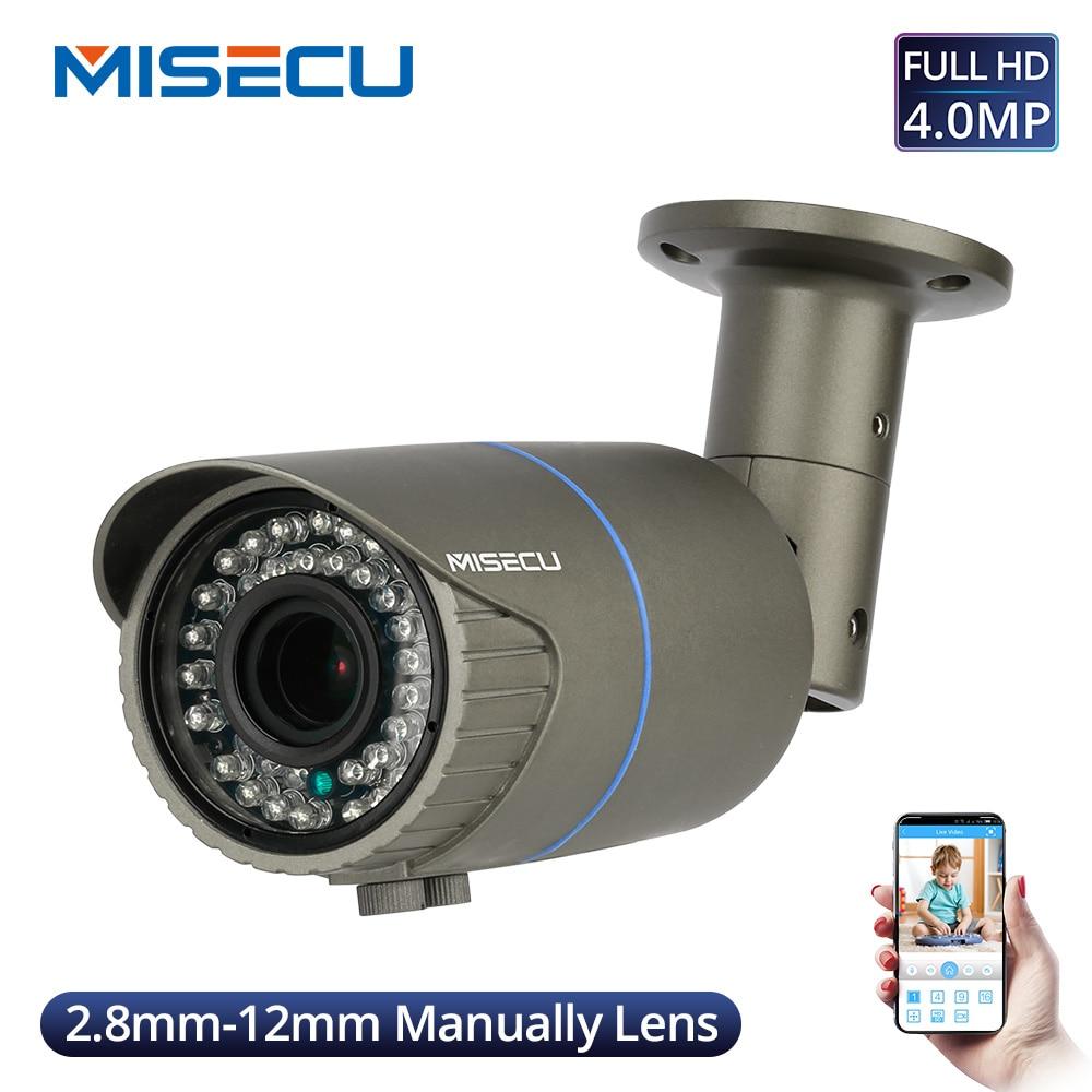 MISECU Super HD 4MP 4X Optische Zoom/Fokus Objektiv IP Kamera Im Freien Wasserdichte CCTV Home Security Kamera Motion Detection ONVIF P2P