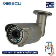 Misecu super hd 4mp 4x zoom óptico/lente de foco câmera ip ao ar livre à prova dwaterproof água cctv câmera de segurança em casa detecção movimento onvif p2p