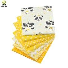 Shuanshuo Gelb Serie Baumwolle Patchwork Stoff Fat Quarter Bundles Stoff Für Nähen Puppe Tücher 40*50cm 7 teile/los