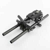 CAMVATE Manfrotto Baseplate 15mm Lens Support Rod for DSLR Camera Shoulder Rig ER062