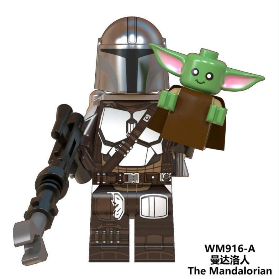 The Mandalorian Figures Mini Yoda Baby Rey Warrior Jango Boba Fett Knights Of Ren Darth Vader Sith Trooper Building Blocks Toys