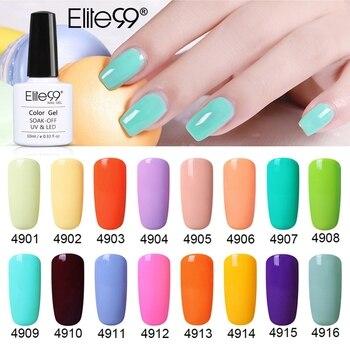Elite99 10ml Macaron UV Gel Nagellack Hybrid Semi Permanent Nail art Maniküre Lack Tränken Weg Von Sommer Farbe Nagel gel Polnisch