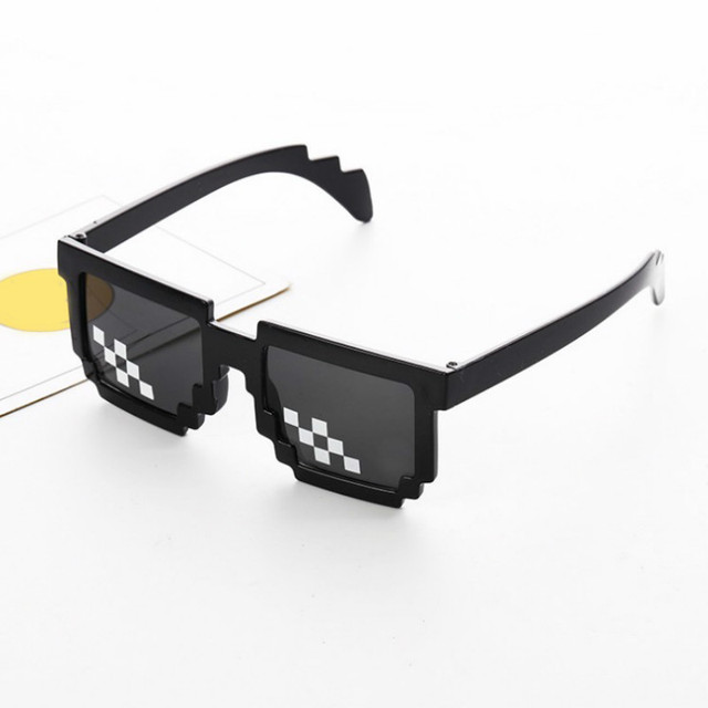 CellDeal Men Women 8 Bit Coding Pixel Thug Life Mosaic Glasses Sunglasses Trendy Cool Super Party Funny Vintage Shades Eyewear 2
