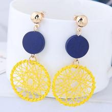 Korean Personality Wild Long Pendant Earrings Sexy Europe and America Exaggerated Big Circle Femininity