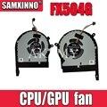 Новый оригинальный процессор gpu охлаждающий вентилятор кулер для For Asus ROG TUF Gaming FX504 FX504G FX504GE FX504GM FX504GD FX504FE