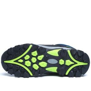 Image 3 - Junjarm novos homens botas de inverno com pele 2019 quente botas de neve homens botas de inverno sapatos de trabalho calçados masculinos moda borracha tornozelo sapatos