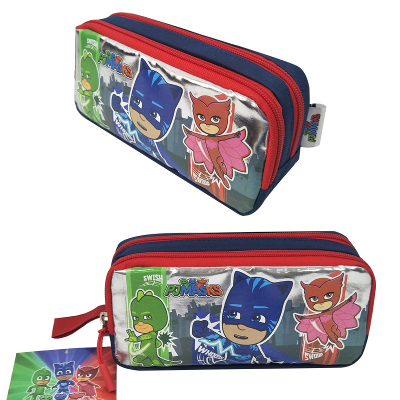 Pj Mask Cartoon Bag Unisex Catboy Owlette Gekko Pencil Case Double-layer Large Capacity Change Storage Bag Gift For Kids 2B66