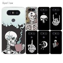 Uyellow Pirates Skull Soft Phone Case For LG G4 G5 G6 G7 G8 G8S V10 V20 V30 V30S V40 V50 Q6 Q7 Q8 Cover K8 K10 2018 2017 Coque