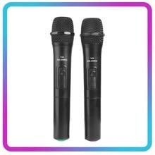 VODOOL 1pc/2 pièces Microphone sans fil intelligent micro portable avec récepteur USB pour karaoké discours haut parleur Microphones Audio