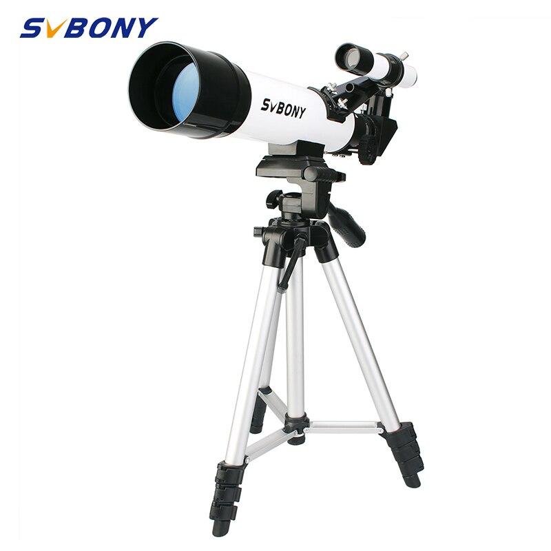 SvBony Hohe Qualität 60420 Refractive 60mm Kinder Astronomische Teleskop haben Weitwinkel Leistungsstarke Zoom Teleskop mit Stativ