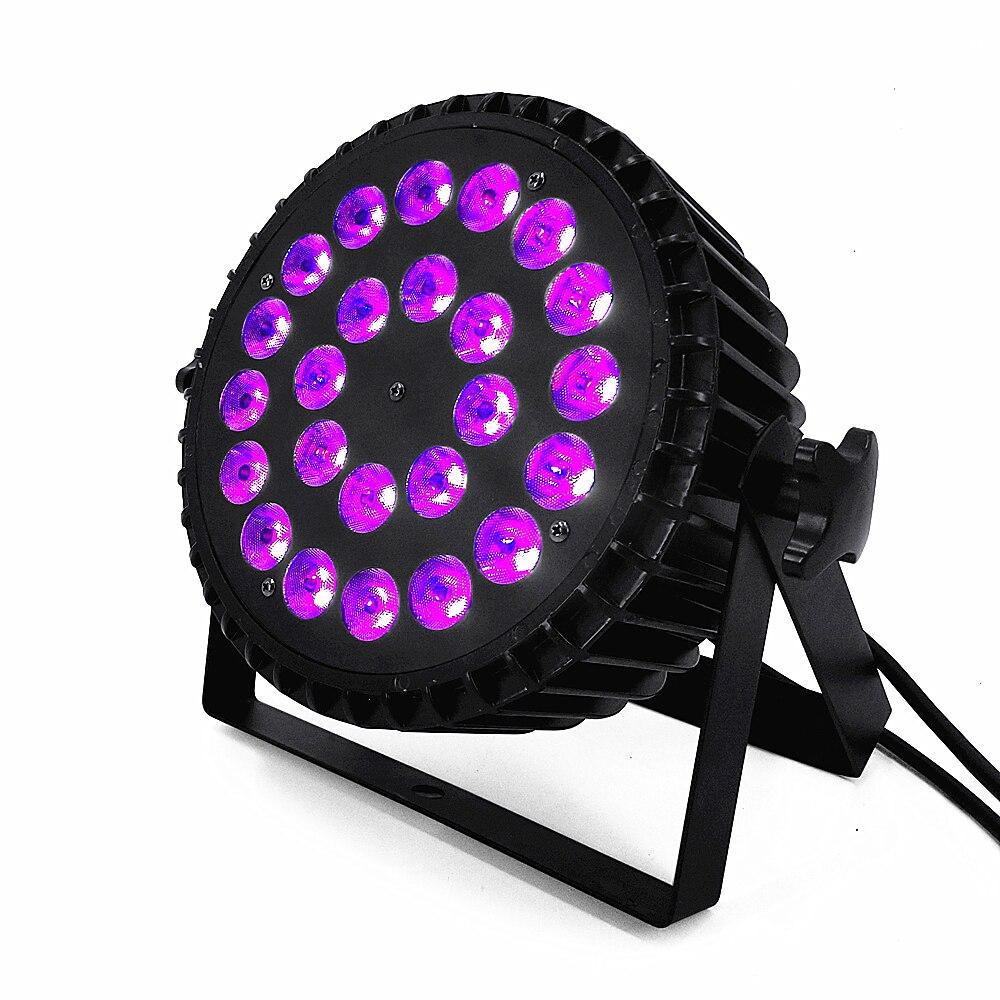 Luces Par LED 24x18W RGBWA UV 6 en 1, luces led para escenario profesional, iluminación para escenario RGBW 4 en 1 Proyector de cielo estrellado colorido, lámpara de rotación de luz nocturna, Noche De Luna estrellado, carga USB para regalo de cumpleaños, bebé romántico para niños