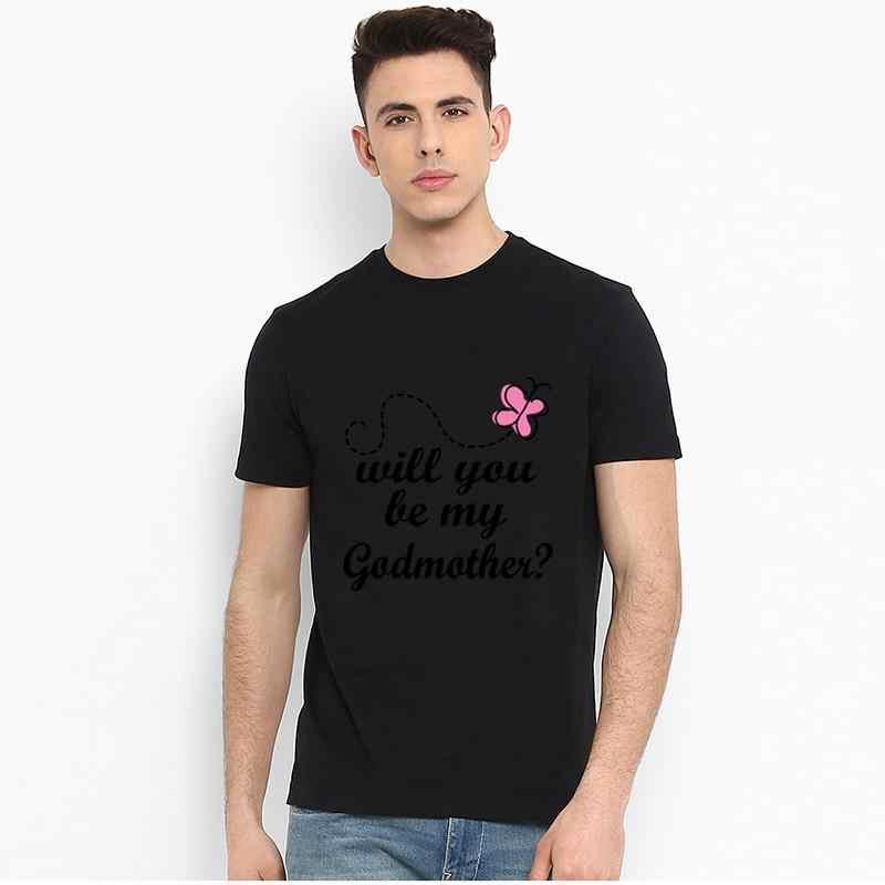 Vintage Be My Godmother Baby ogłoszenie t shirt w dużych rozmiarach s-73xl oryginalny Paisley unikalne męskie t-shirty