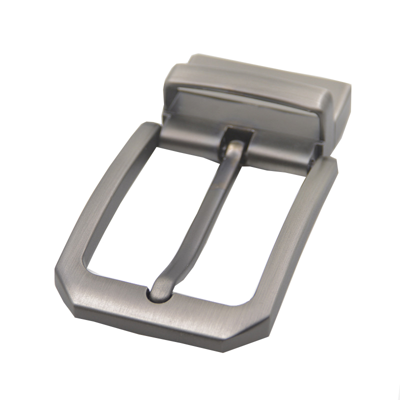 1PC 35mm Metal Men Belt Buckle Clip Buckle Rotatable Bottom Single Pin Half Buckle Leather Craft Belt Strap Accessories Silver