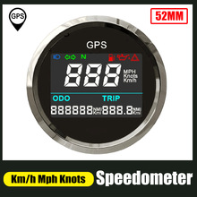 Stainless-Steel Boat Speed-Gauge Odometer Digital Motorcycle Knots 52mm Km/H for Car