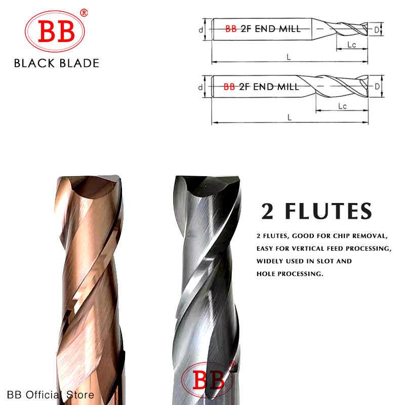 BB cnc Carbide End Macinapepe In Acciaio Al Tungsteno Fresatura Macchina di Frese e taglierine per micro SIM Strumenti 2 4 Flauto Chiave del Metallo Sedile Viso 6 8 12 millimetri Gambo HRC40 ~ 60