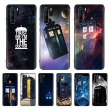 Tardis Box Doctor Who Black Cover Phone Case For Huawei Mate 30 20 10 P30 P20 P10 Pro Lite P Smart Z 2019 Luxury Coque Shell(China)