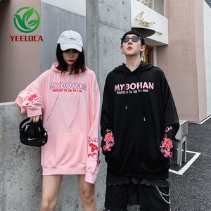 Image 2 - 2019 Dropshipping Embroidered Hooded Top Men Women Autumn Winter Loose Hiphop Hoodies Couples High Quality Casual Sweatshirts