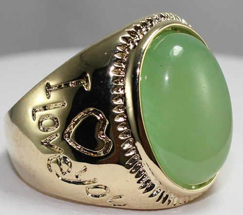 R00025 ใหม่แฟชั่น 18K Gold Plated แหวนหยก 5.29
