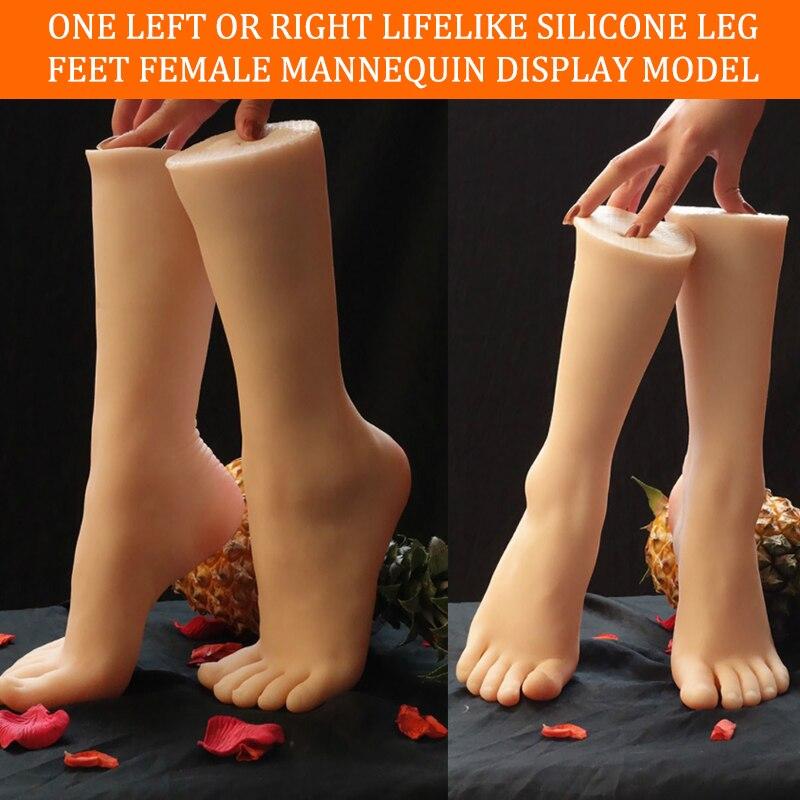 1 par realista silicone perna pés falso