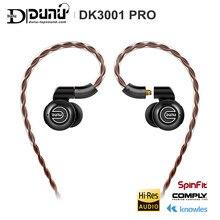 DUNU DK3001 PRO HiFi Audio 5 hybrydowy sterownik (1DD + 4 Knowles BA) w ucho słuchawki douszne słuchawki MMCX odłączany kabel 2.5/3.5/4.4 zrównoważony podłączyć